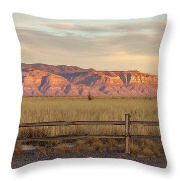 Ridge Outside Alamogordo Throw Pillow