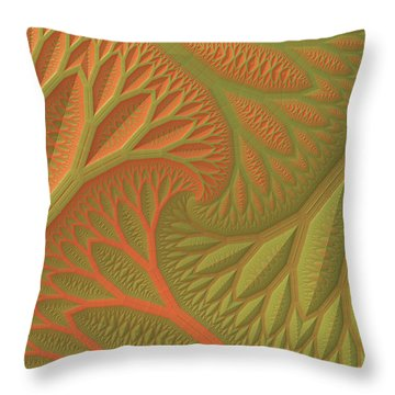 Throw Pillow featuring the digital art Ridges And Valleys by Lyle Hatch