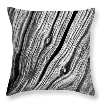 Throw Pillow featuring the photograph Ridges - Bw by Werner Padarin