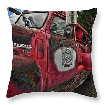 Ridgway Fire Truck Throw Pillow