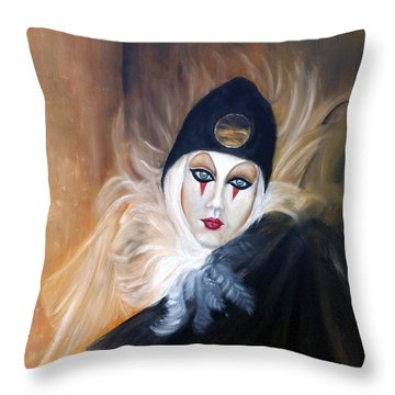 Ridi Pagliaccia Throw Pillow