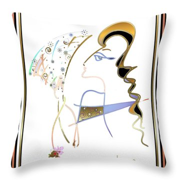 Ridicule - Madame De Blayac Throw Pillow