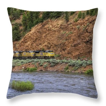 Ridin' The Rails Throw Pillow