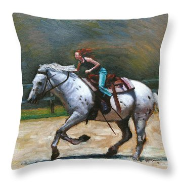 Riding Dollar Throw Pillow