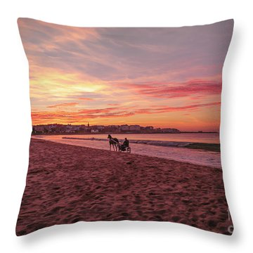 Throw Pillow featuring the photograph Riding Home by Roy McPeak