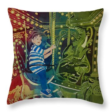 Riding In Style Throw Pillow by Terry Honstead