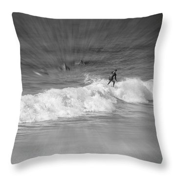 Riding It Out Throw Pillow by Susan  McMenamin