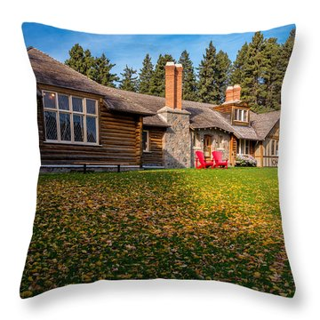 Riding Mountain National Park Throw Pillow