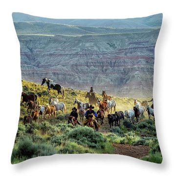 Riding Out Of The Sunrise Throw Pillow