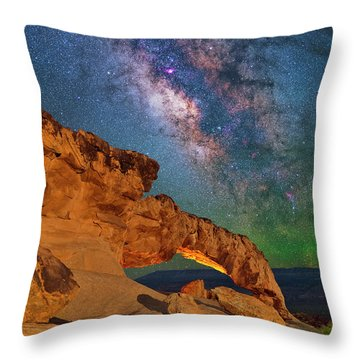 Riding Over The Arch Throw Pillow