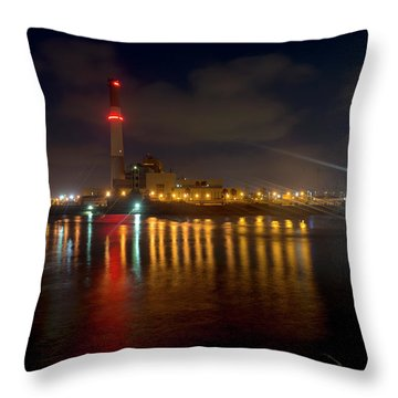 Throw Pillow featuring the photograph Riding Station, Tel Aviv, Water Side by Dubi Roman
