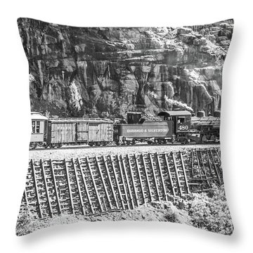Throw Pillow featuring the photograph Riding The Edge by Colleen Coccia
