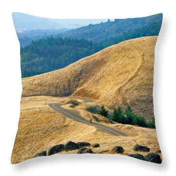 Riding The Mountain Throw Pillow