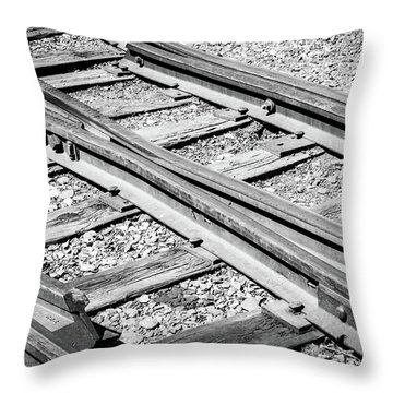 Throw Pillow featuring the photograph Riding The Rail by Colleen Coccia