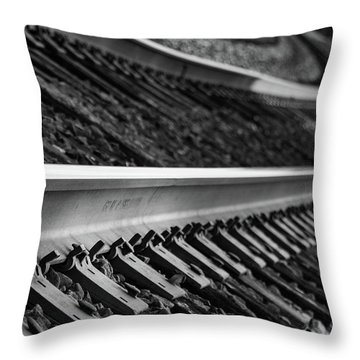 Riding The Rail Throw Pillow