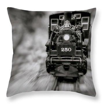 Riding The Railways Throw Pillow