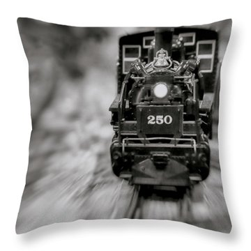 Riding The Railways Throw Pillow
