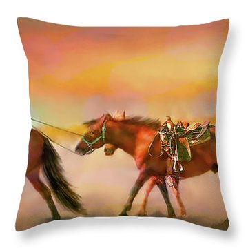 Riding The Surf Throw Pillow