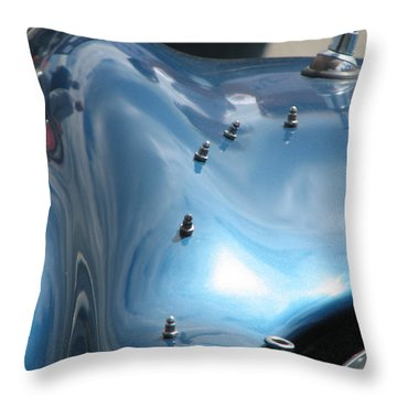 Riding The Surf Throw Pillow by Kelly Mezzapelle