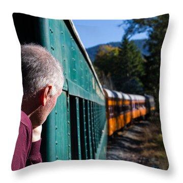Riding The Train 8x10 Throw Pillow