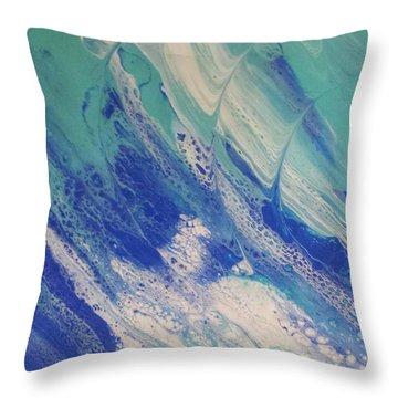 Riding The Wave Throw Pillow
