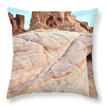 Throw Pillow featuring the photograph Riding The Wave In Valley Of Fire by Ray Mathis