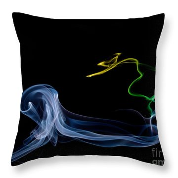 Riding The Wave Throw Pillow