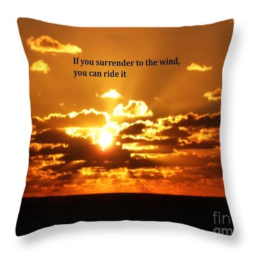 Riding The Wind Throw Pillow by Gary Wonning