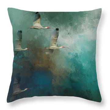 Riding The Winds Throw Pillow