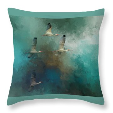 Riding The Winds Throw Pillow by Marvin Spates