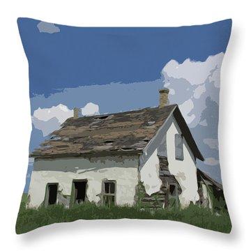 Riel Period Homestead Throw Pillow