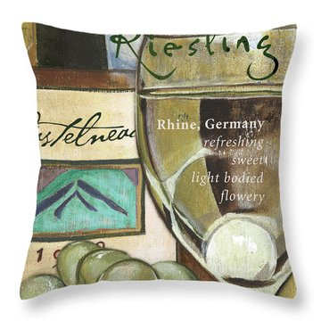 Riesling Wine Throw Pillow