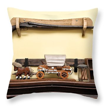 Rifle Throw Pillow by Linda Constant