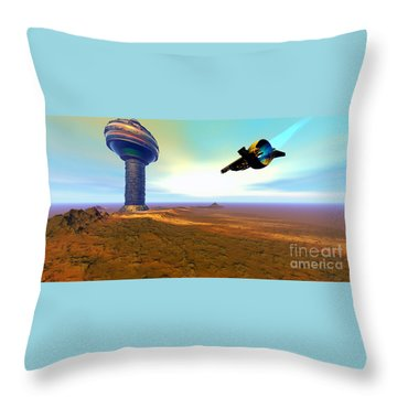 Rigel 7 Throw Pillow by Corey Ford