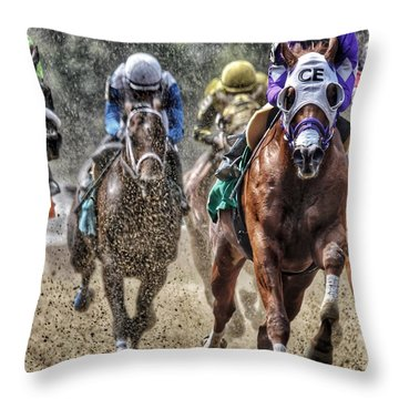 Right At You Throw Pillow