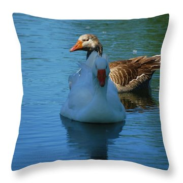 Throw Pillow featuring the photograph Right Behind You Babe by Ramona Whiteaker