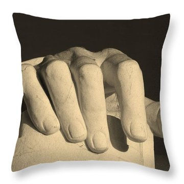 Right Hand Of The Man Throw Pillow