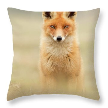 Right Into Your Soul - Red Fox Throw Pillow