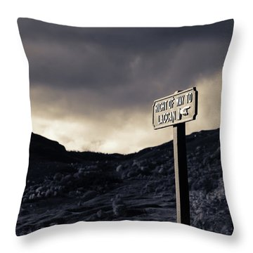 Right Of Way To Laggan Throw Pillow