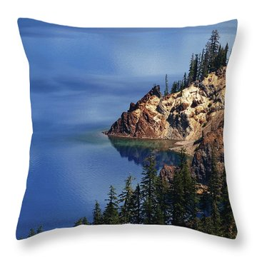 Right Side Of Crater Lake Oregon Throw Pillow
