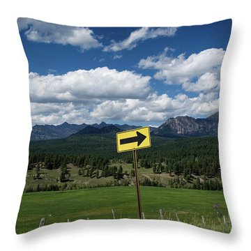 Right This Way Throw Pillow