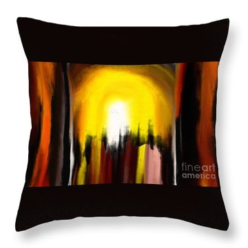 Right Way Throw Pillow by Rushan Ruzaick