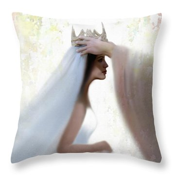 Righteous Crown Throw Pillow by Kume Bryant