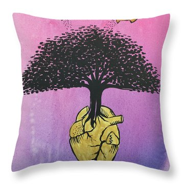 Throw Pillow featuring the painting Righteous Growth by Nathan Rhoads