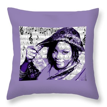 Rihanna Throw Pillows