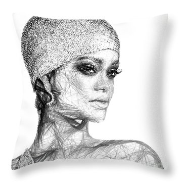 Rihanna Throw Pillow