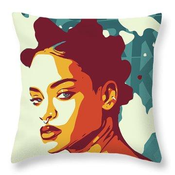 Rihanna Throw Pillow by Greatom London