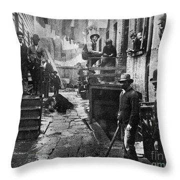 Riis: Bandits Roost, 1887 Throw Pillow by Granger