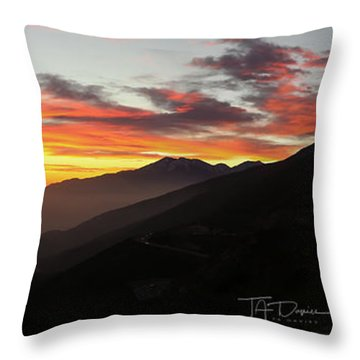Rim Of The World Throw Pillow