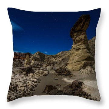 Rim Rock Toadstools Grand Staircase National Monument  Throw Pillow